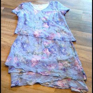 Lady Dorby 2 Piece Dress Set Gorgeous 22W Floral
